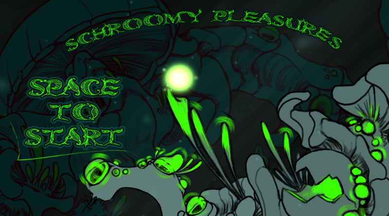 The title screen for Shroomy Pleasures.