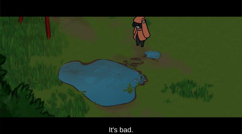 "A cutscene in ""Whispers"""